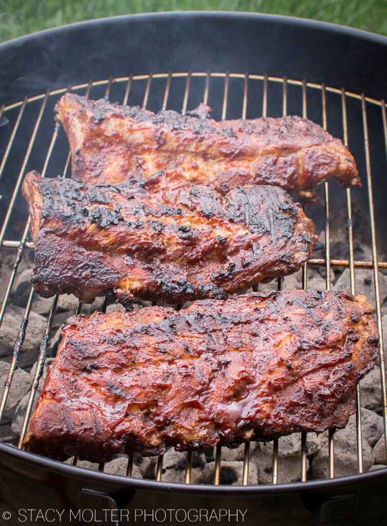 Perfect Fall Off the Bone Grilled Sweet BBQ Baby Back Ribs