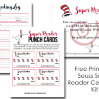 Free Printable Seuss Super Reader Certificate Kit