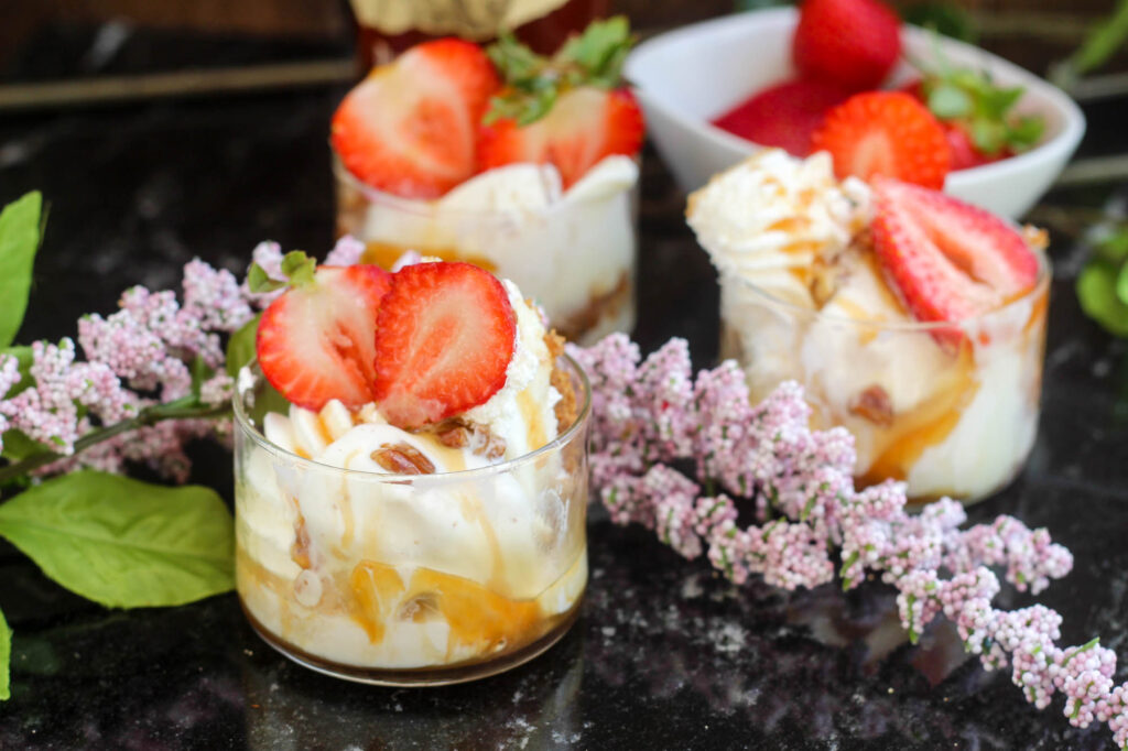 The tangy, sweet flavor of Key lime, one of the most beloved summer flavors, comes to life in this refreshing Key Lime Ice Cream with Bourbon & Strawberry recipe.