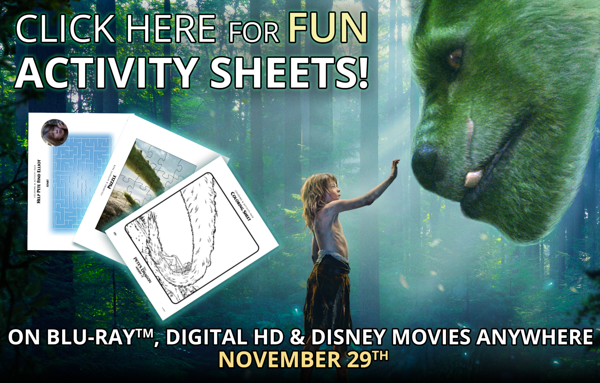 Pete's Dragon Activity Sheets