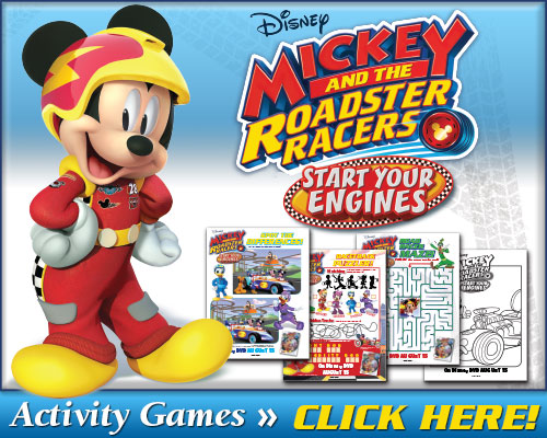 Mickey and the Roaster Racers Activity Sheets
