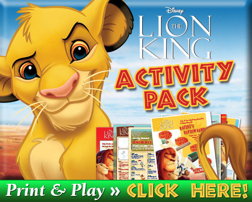 Lion King Activity Pack