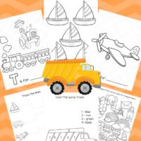 Big Preschool Workbook Download - For Boys