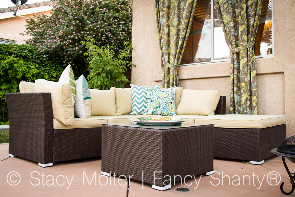Create a Seasonal Outdoor Living Space with Firepit on a Budget