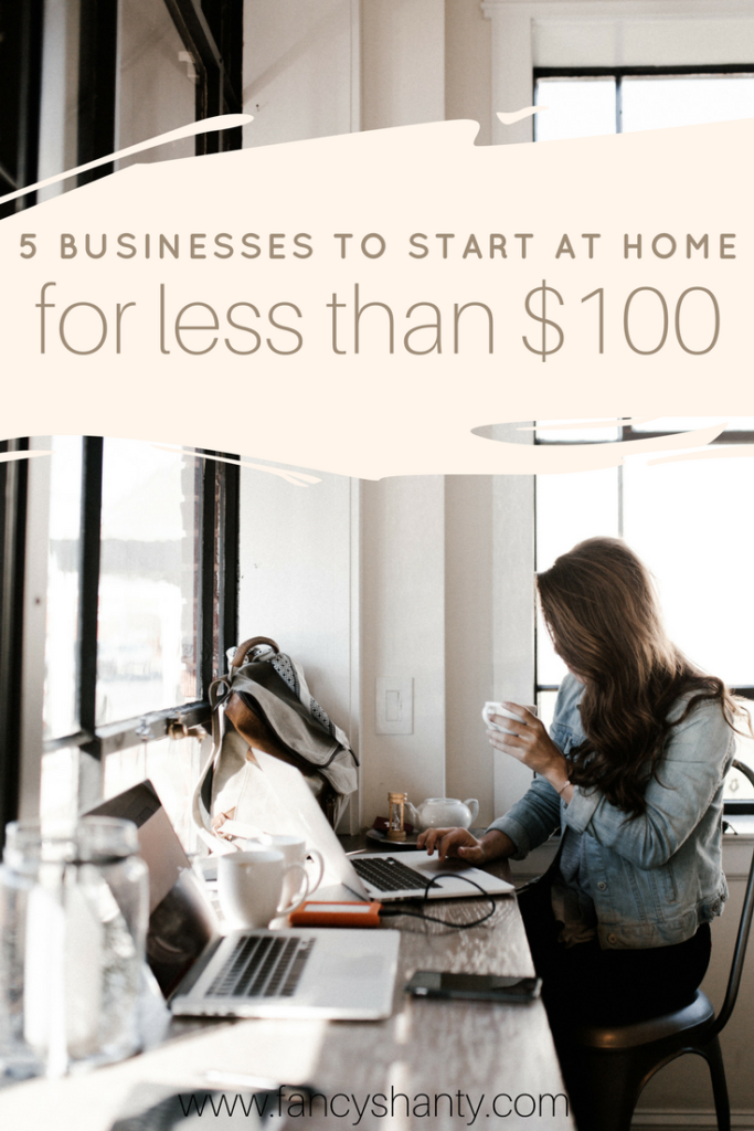 Working from home has many advantages and it t doesn't have to cost an arm and a leg to get started! Here are our favorite 5 businesses to start from home!