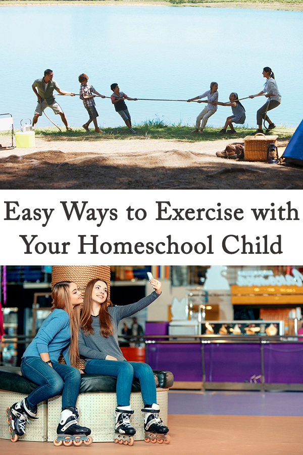 It's time to get moving! When you're homeschooling your child, it's so easy to just get in a sit and get routine. There's work to be done, but physical education is just as important as mental knowledge acquisition. Here are some easy ways to exercise with your homeschool child that will get you moving and help you both have fun!