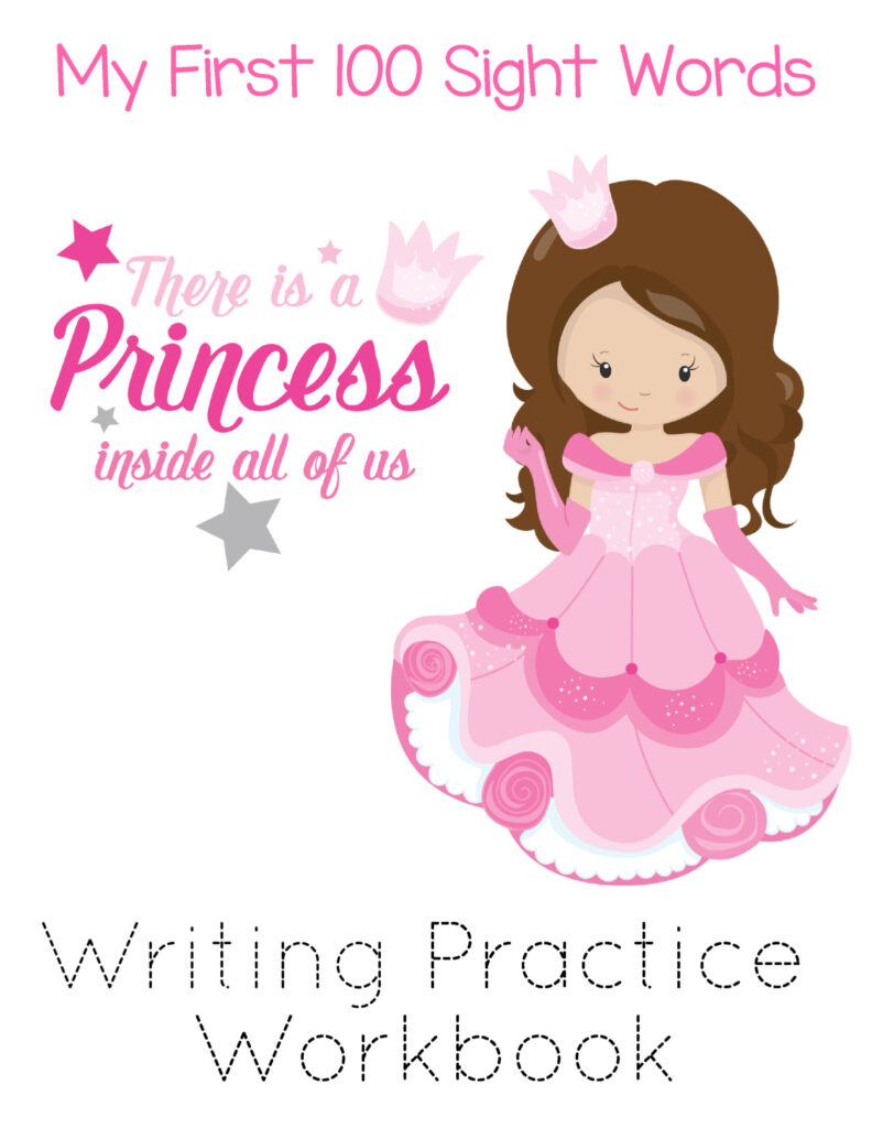 Free Printable 100 Sight Words List - Princesses