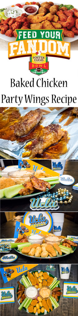 Baked Chicken Party Wings Recipe: Feed Your Fandom with Foster Farms