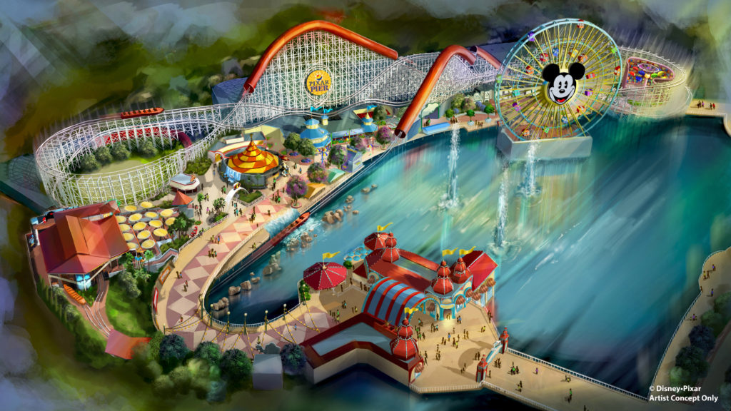 New Pixar Pier Rides Coming to Disney California Adventure Park