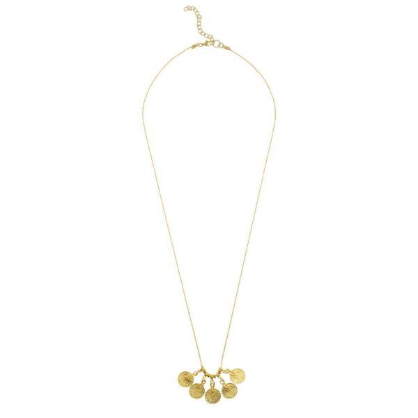 Rupee Pendant Necklace - Gold