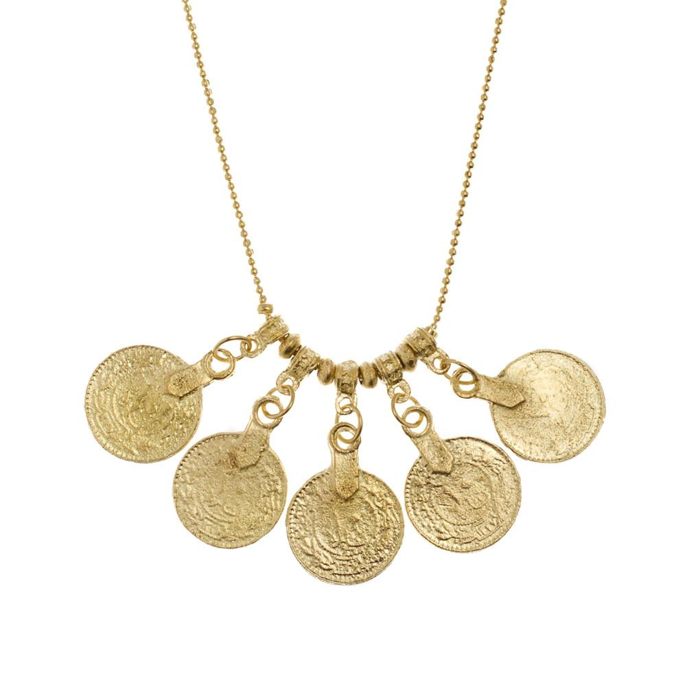 Rupee Pendant Necklace - Gold