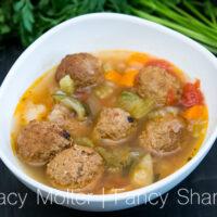 Instant Pot Albóndigas - Mexican Meatball Soup