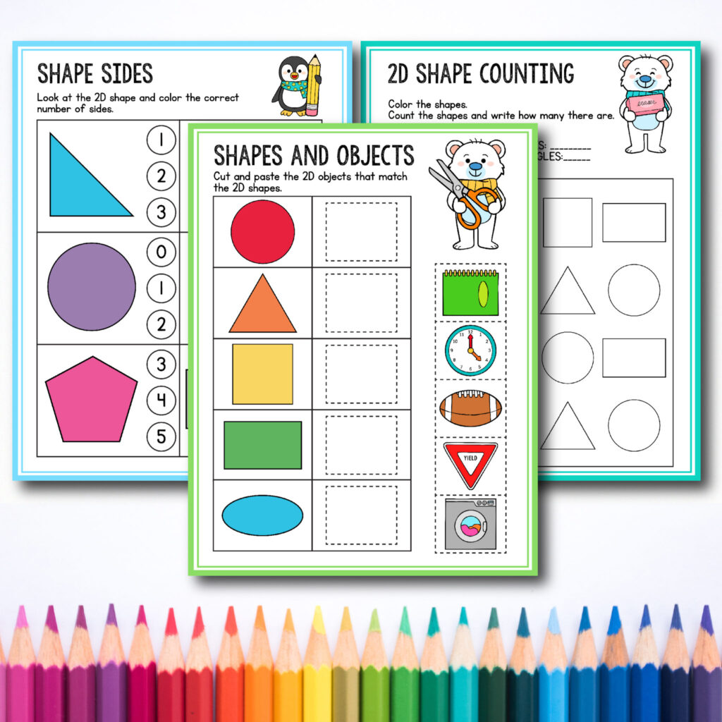 - Free Preschool & Kindergarten Shapes Worksheets For Toddlers