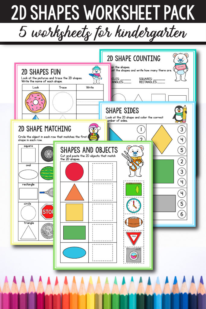 Free Preschool & Kindergarten Shapes Worksheets