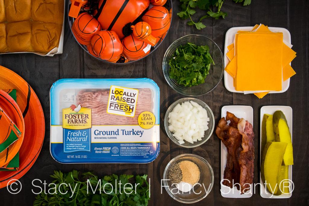Cheddar Bacon Baked Turkey Burger Sliders Recipe