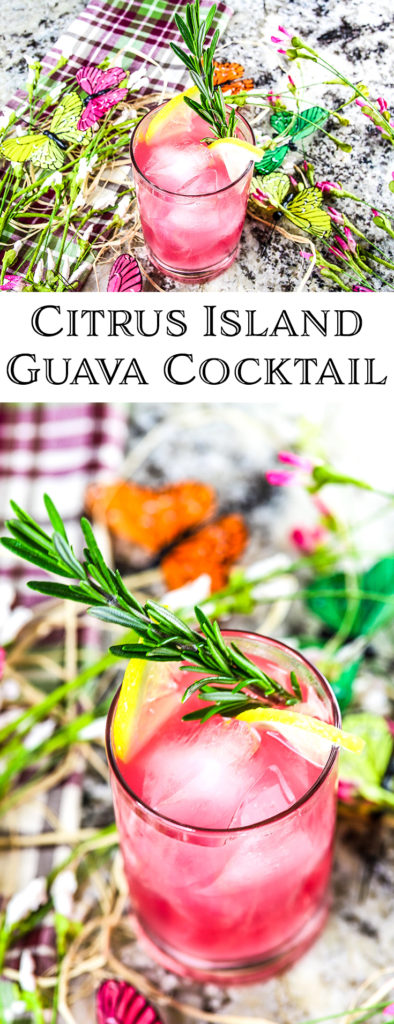 Citrus Island Guava Cocktail