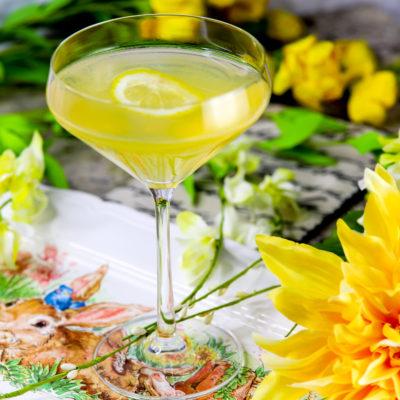Double Lemon Drop Martini Cocktail