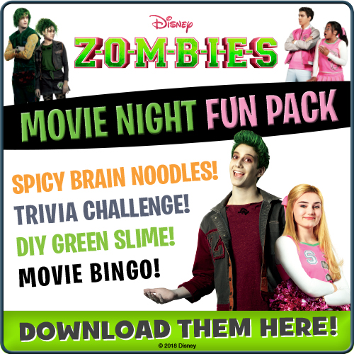 Disney Zombies Movie Night Fun Pack