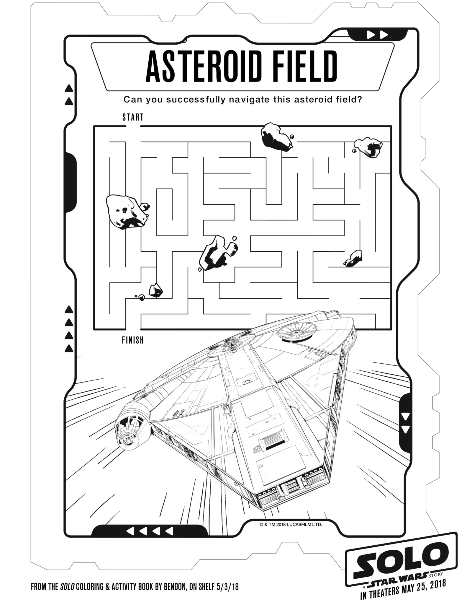 Solo: A Star Wars Story Activity Sheets