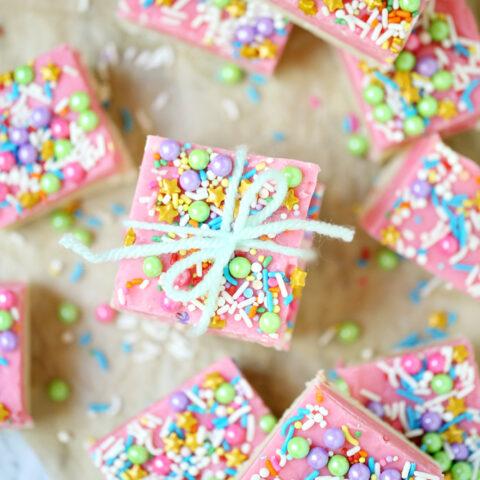 Unicorn Cake Batter Fudge Recipe