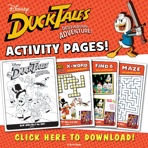 Disney's Ducktales Printable Activity Sheets