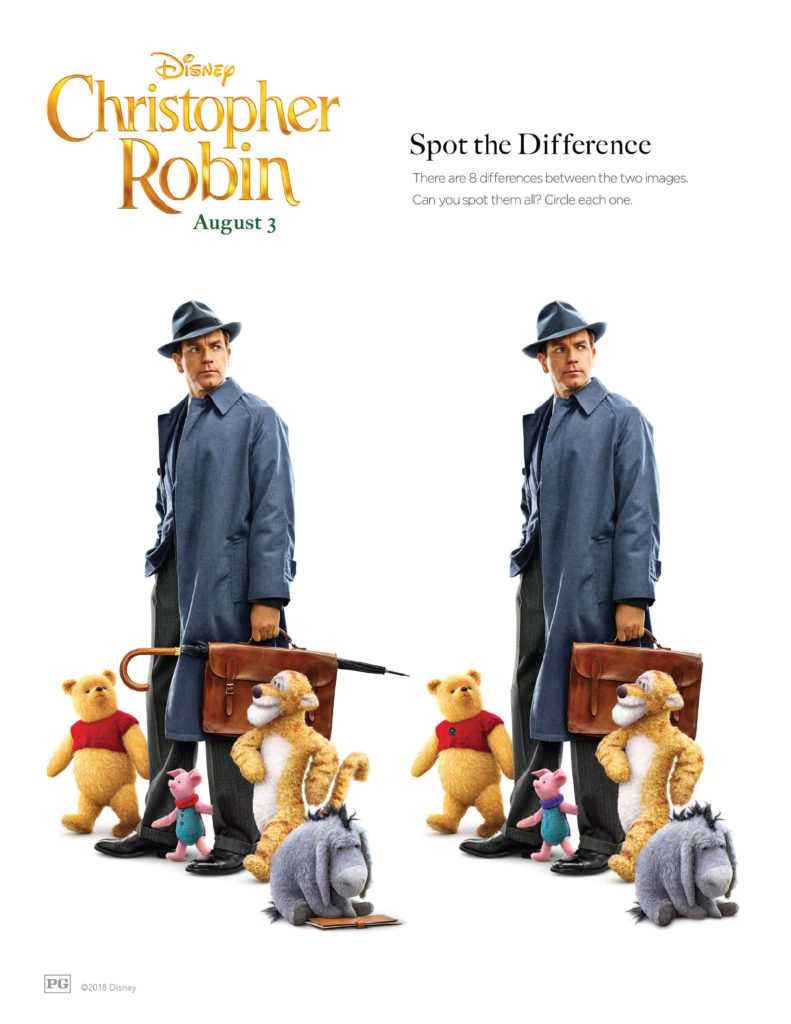 Christopher Robin Activity Pages