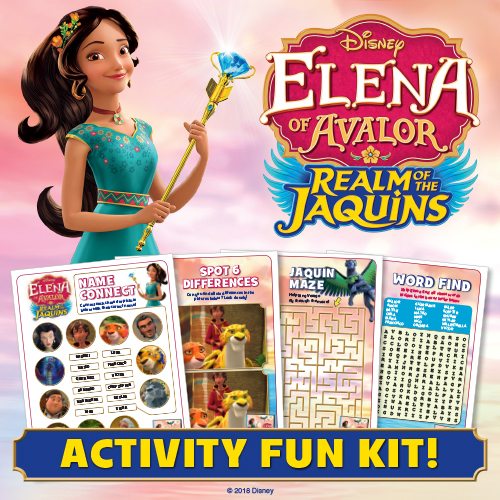 Elena of Avalor Activity Pages