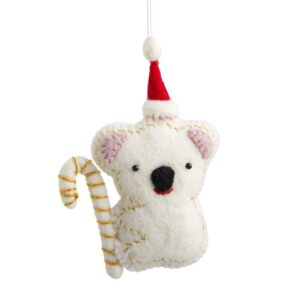 Embellished Felt Koala Ornament
