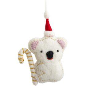 Embellished Felt Koala Ornament