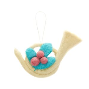 Felt French Horn Ornament