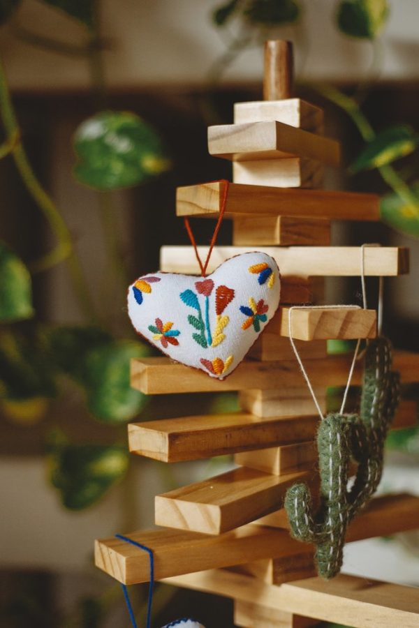 Wooden Christmas Ornament Display Tree