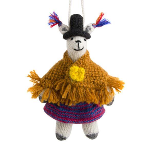 Llama with Shawl Ornament