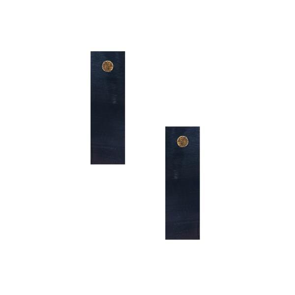 Rectangle Horn Stud Earrings