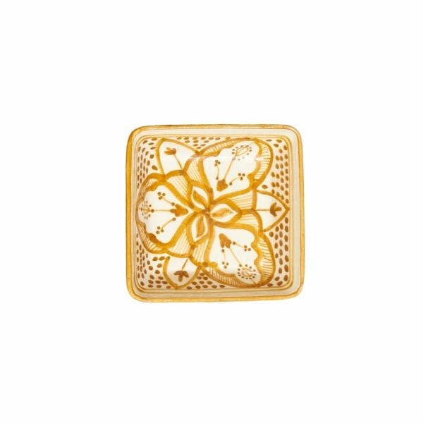 Square Floral Dishes Amber