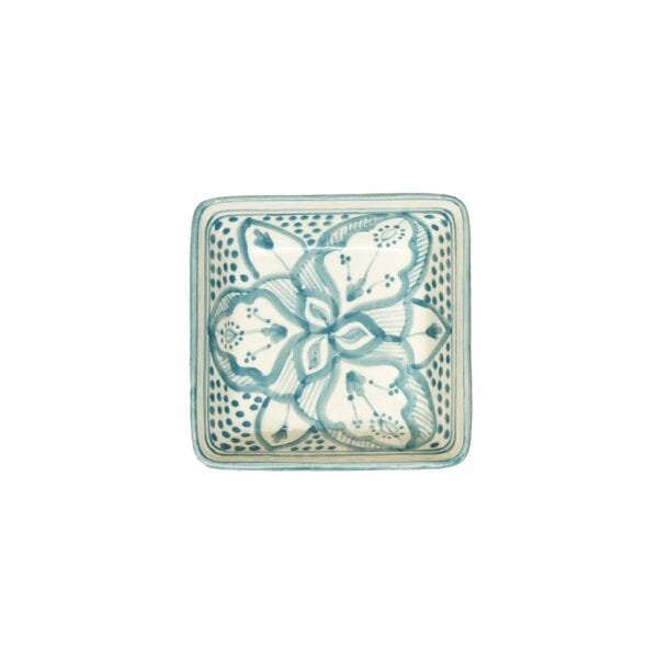 Square Floral Dishes Blue