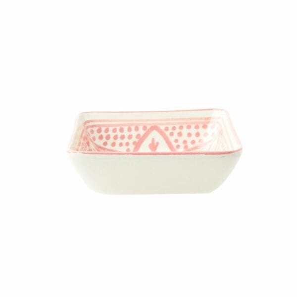 Square Floral Dishes Pink Side
