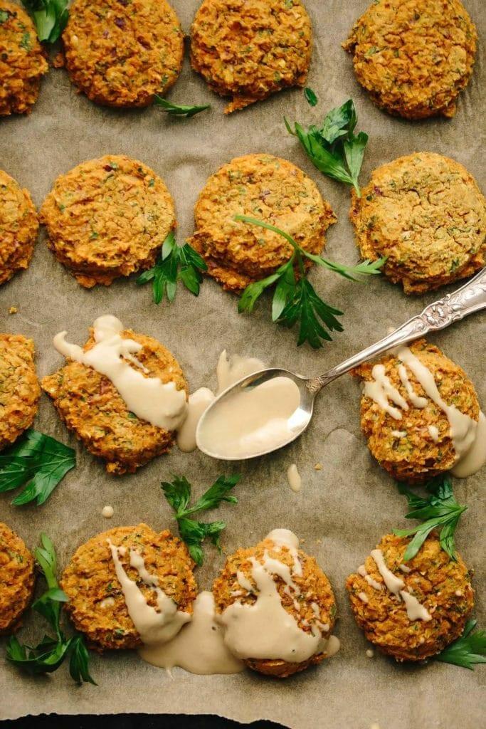 Pumpkin Lentil Falafel