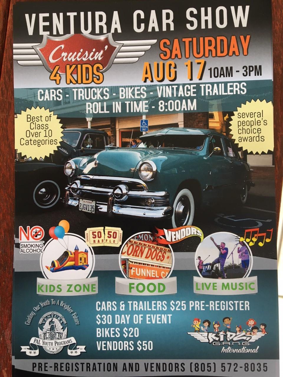 Ventura Car Show - Cruisin 4 Kids