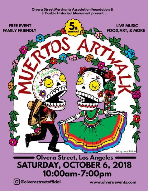6th Annual Olvera Street Muertos Artwalk