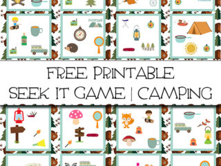 Free Printable Seek It Game Camping