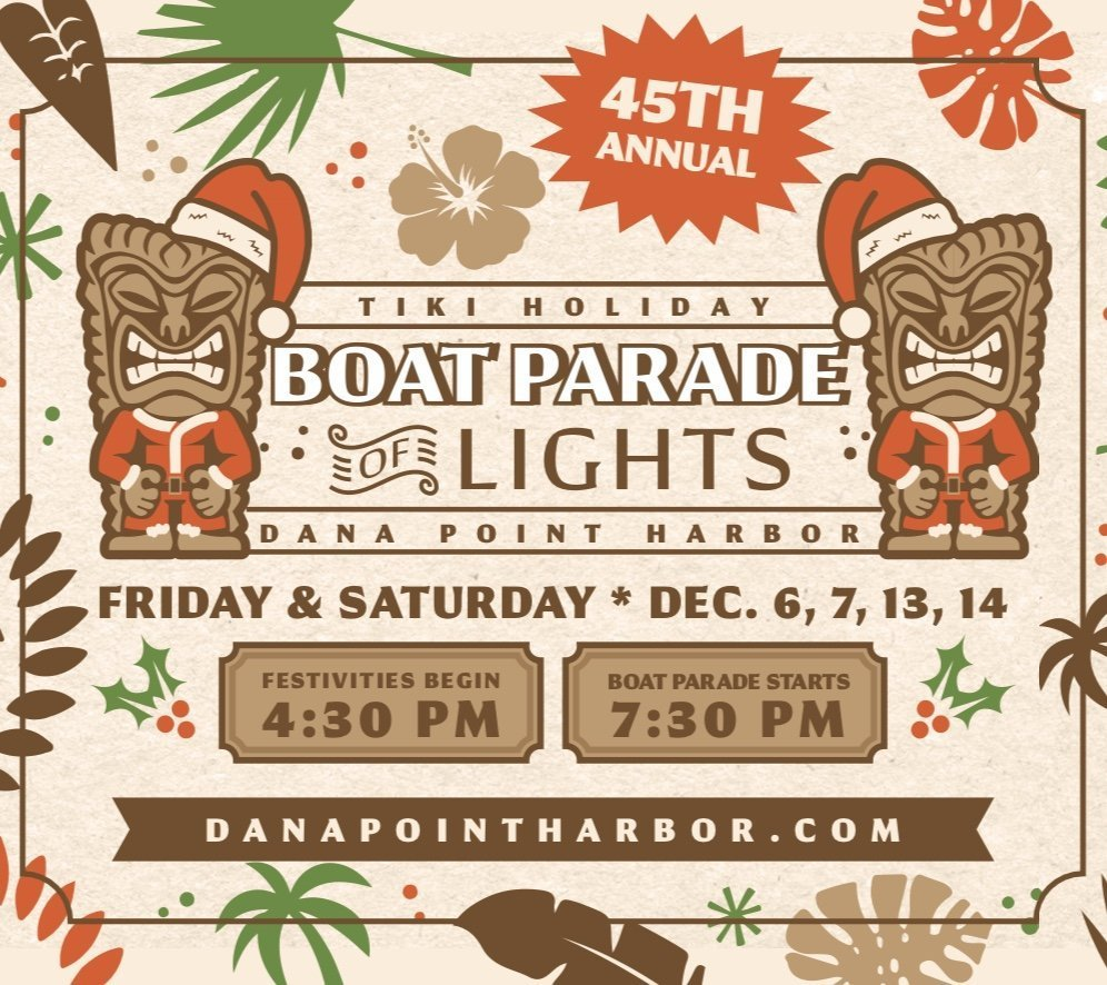 Dana Point Harbor Boat Parade of Lights!
