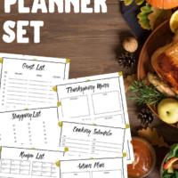 Free Printable Thanksgiving Dinner Planner