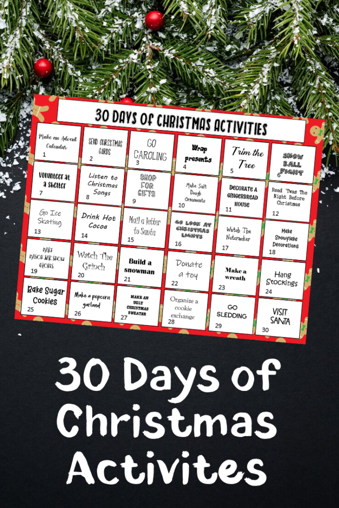30 Days of Christmas Activities - Christmas Bucket List Ideas