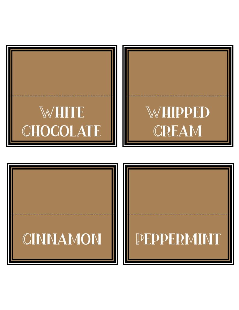 Free Printable Hot Chocolate Bar Kit