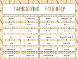 Free Printable Thanksgiving Pictionary Game
