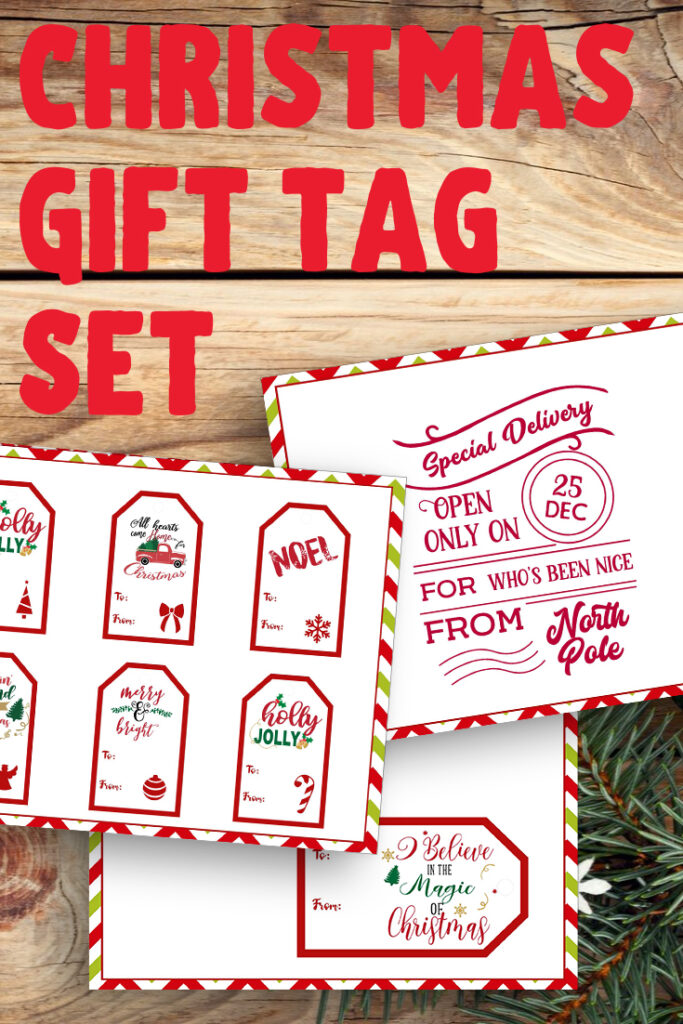 Add some personality to your Christmas gifts this holiday season with these cheerful free printable gift tags!