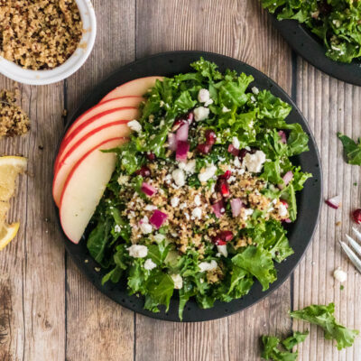 Kale and Quinoa Salad Recipe with Simple Lemon Dressing