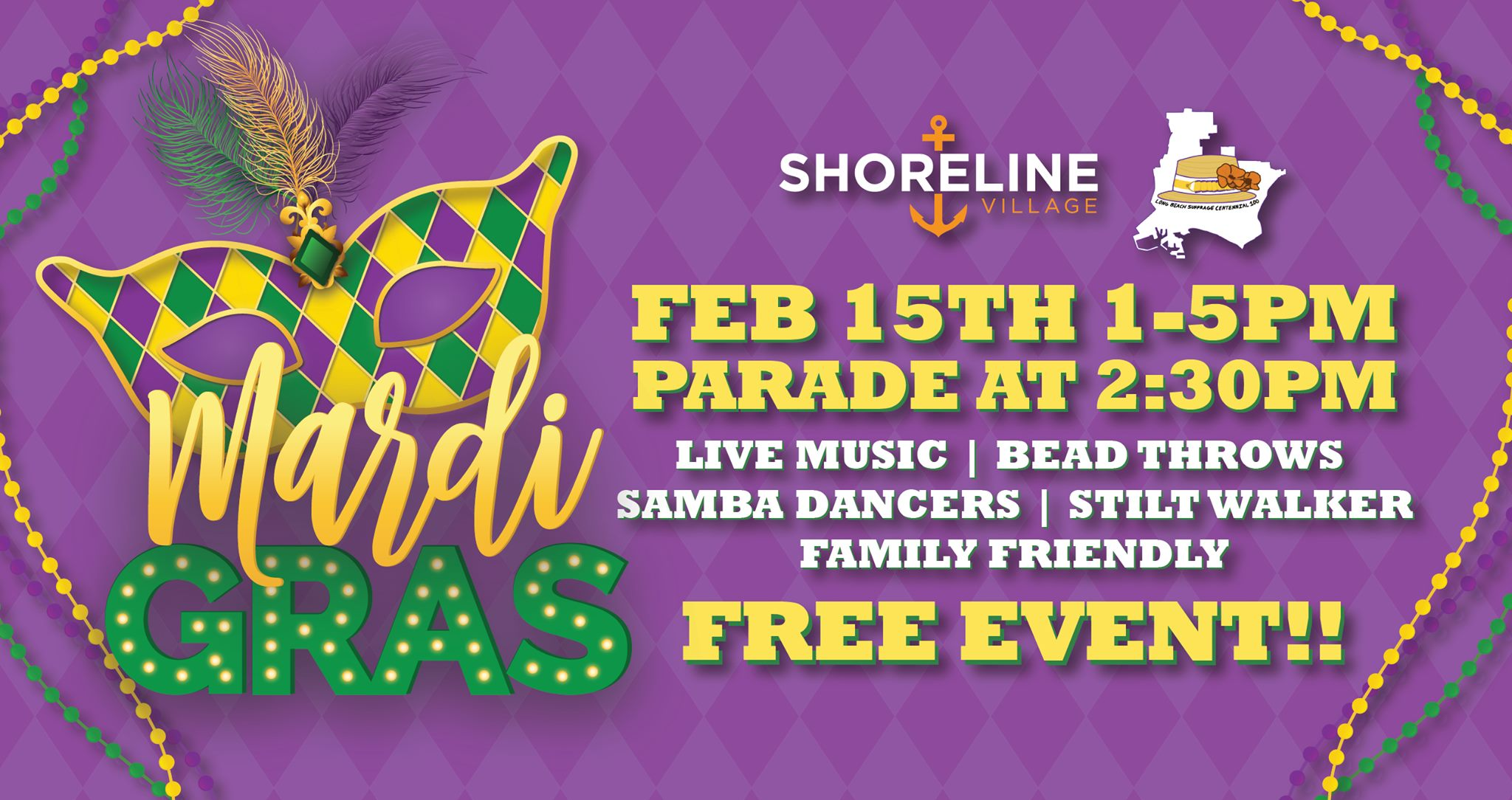Long Beach Mardi Gras at Shoreline Village