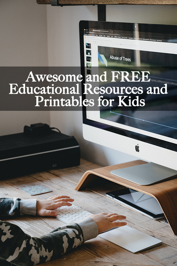 To help our readers and support their children's homeschool education, we've created this collection of awesome and FREE educational resources and printables for kids.