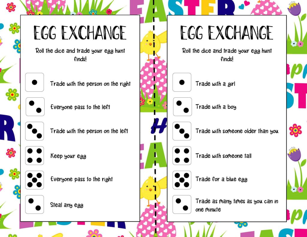 Easter Egg Exchange Game